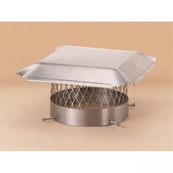 Lindemann 151012 Hy-C 12 Inch Stainless Steel Round Chimney Cover