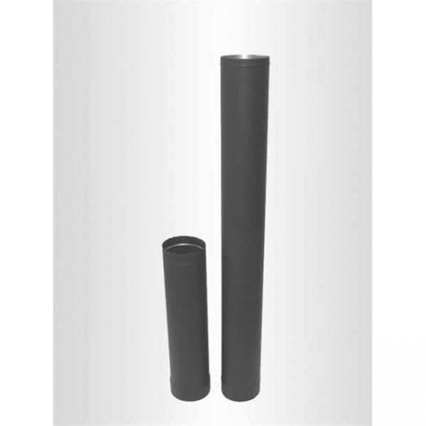 Lindemann 345308 Heat Fab 8 x 36 Inch Black Stovepipe - 22 Ga.