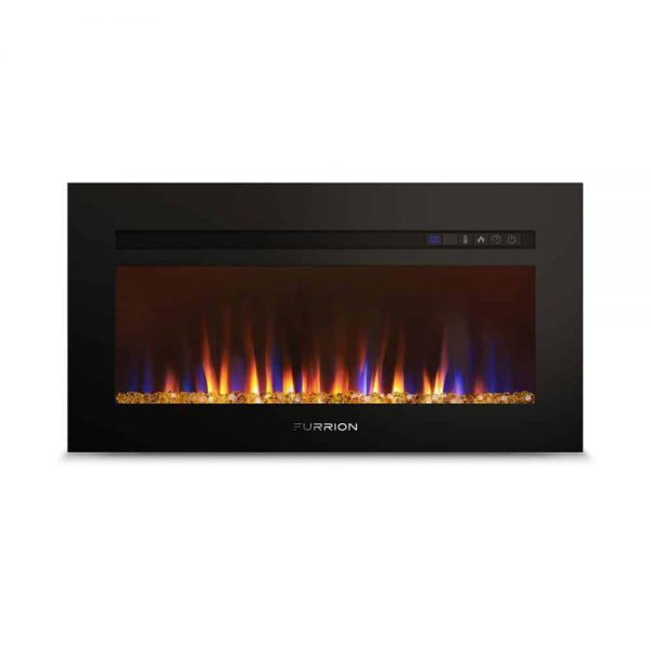 """Lippert 693968 Built-In Electric Fireplace with Crystal Platform - 30"""""""