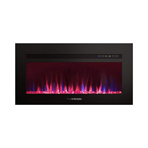 "Lippert 696011 Built-In Electric Fireplace with Crystal Platform - 40"", Black 1"