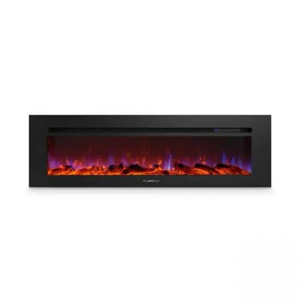Lippert Components 729335 60 in. Built-In Electric Fireplace with Wood Platform - Black