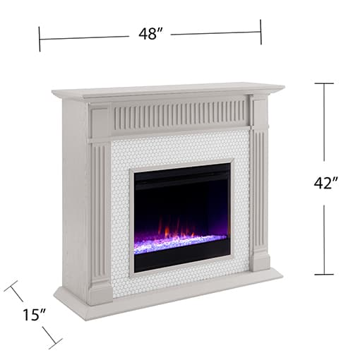 Livingvale Tiled Color Changing Fireplace by Ember Interiors 10