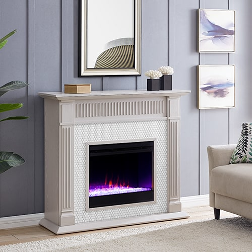 Livingvale Tiled Color Changing Fireplace by Ember Interiors 13