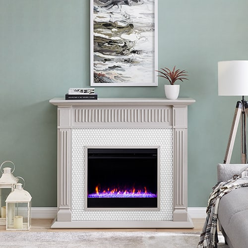 Livingvale Tiled Color Changing Fireplace by Ember Interiors 5