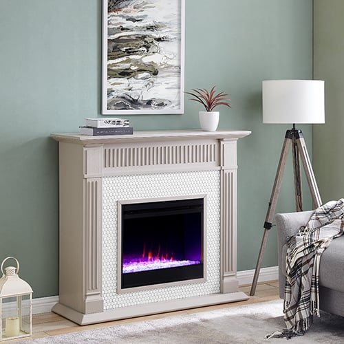 Livingvale Tiled Color Changing Fireplace by Ember Interiors 8