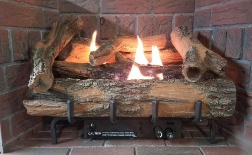 """Low Country Timber 18"""" Vent-Free Log Set with Manual Control - LP"""