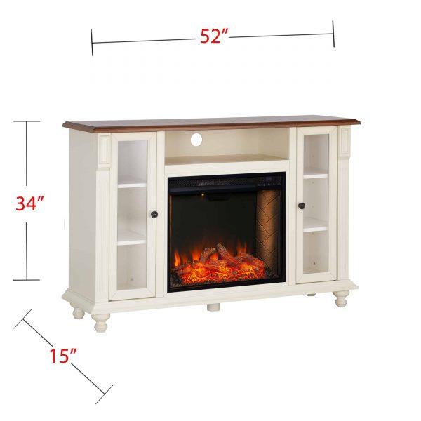 Luella Smart Media Fireplace w/ Storage 1