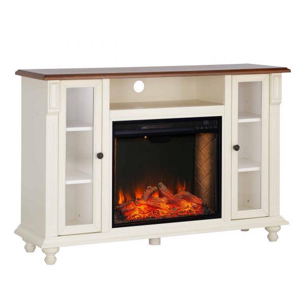Luella Smart Media Fireplace w/ Storage 11