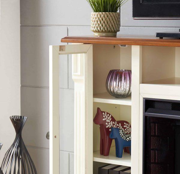 Luella Smart Media Fireplace w/ Storage 12