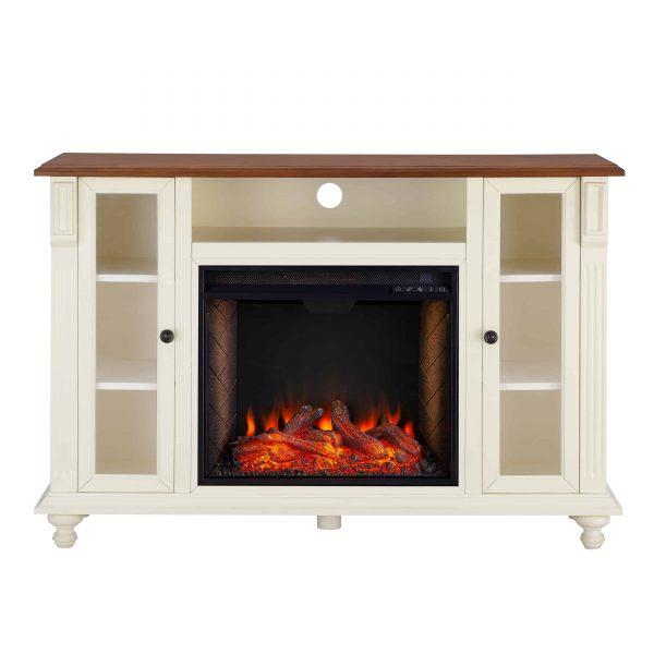 Luella Smart Media Fireplace w/ Storage 3