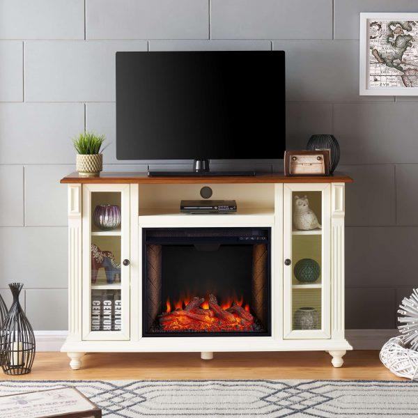 Luella Smart Media Fireplace w/ Storage 4