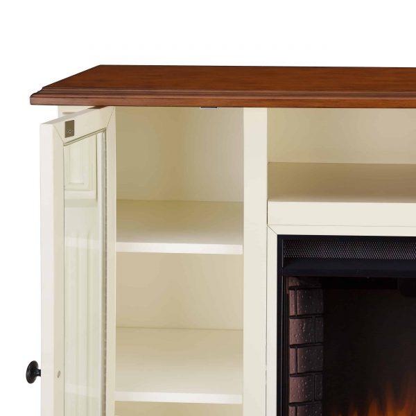 Luella Smart Media Fireplace w/ Storage 6