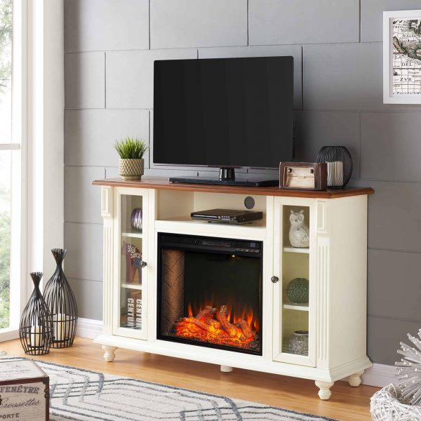 Luella Smart Media Fireplace w/ Storage