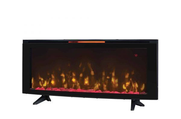 """Luminosity 48"""" Wall Mounted Infrared Quartz Electric Fireplace with Display Stand, Black 2"""