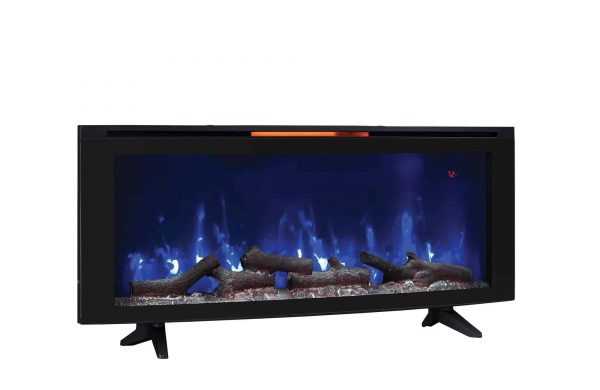 """Luminosity 48"""" Wall Mounted Infrared Quartz Electric Fireplace with Display Stand, Black 3"""