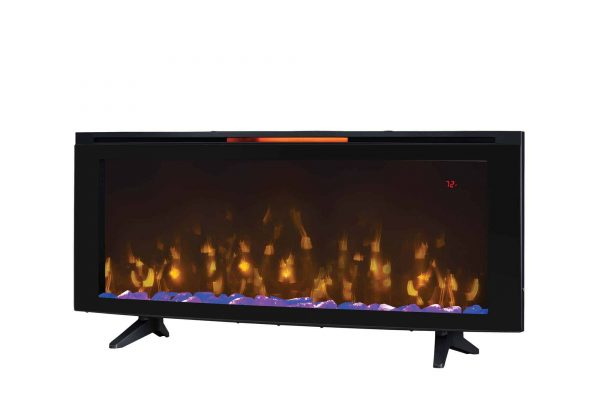 """Luminosity 48"""" Wall Mounted Infrared Quartz Electric Fireplace with Display Stand"""