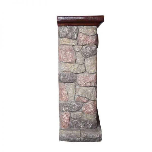 Luxen Home WHIF632 Poly Stone Cottage Free Standing Electric Fireplace Heater Mantel with Remote 2