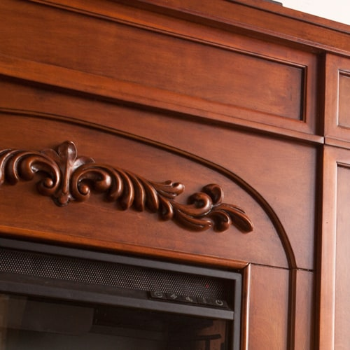 Lydia Electric Fireplace w/Bookcases, Autumn Oak 3