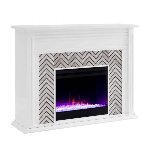Lynfords Tiled Marble Color Changing Fireplace by Ember Interiors 12