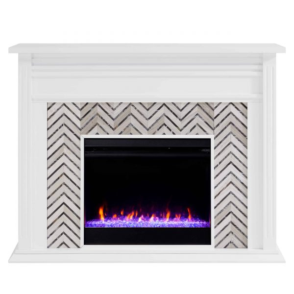 Lynfords Tiled Marble Color Changing Fireplace by Ember Interiors 2
