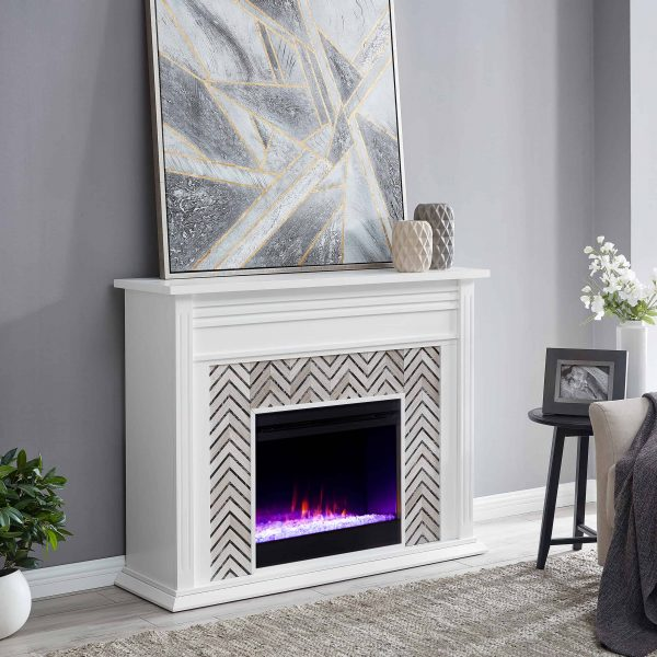 Lynfords Tiled Marble Color Changing Fireplace by Ember Interiors 4