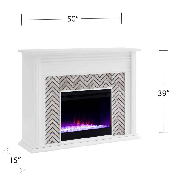 Lynfords Tiled Marble Color Changing Fireplace by Ember Interiors 8