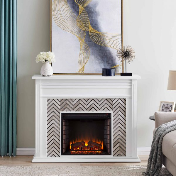 Lynfords Tiled Marble Electric Fireplace by Ember Interiors 10