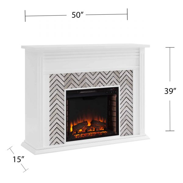 Lynfords Tiled Marble Electric Fireplace by Ember Interiors 12