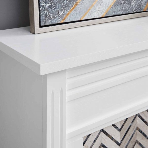 Lynfords Tiled Marble Electric Fireplace by Ember Interiors 2