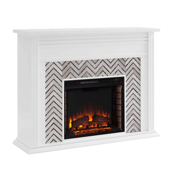 Lynfords Tiled Marble Electric Fireplace by Ember Interiors 3