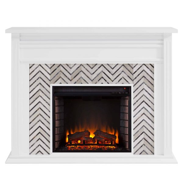 Lynfords Tiled Marble Electric Fireplace by Ember Interiors 5