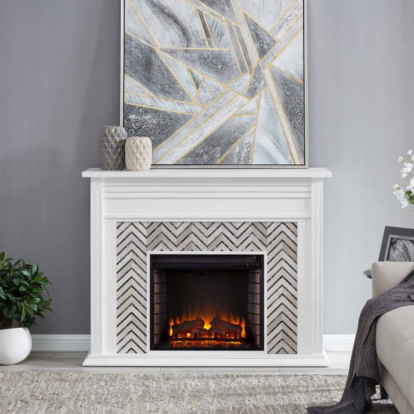 Lynfords Tiled Marble Electric Fireplace by Ember Interiors 8