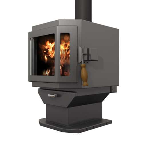 MF Fire Charcoal Catalyst Wood Stove with Room Blower Fan 1