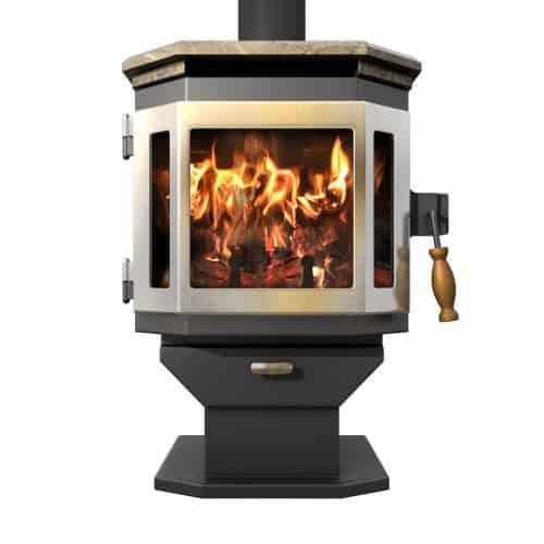 MF Fire Charcoal Catalyst Wood Stove with SS Door and Soapstone Top