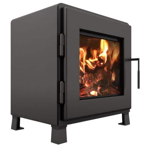 MF Fire Charcoal Nova Wood Stove with Room Blower Fan 1