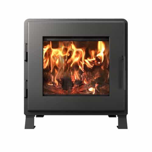 MF Fire Charcoal Nova Wood Stove with Room Blower Fan