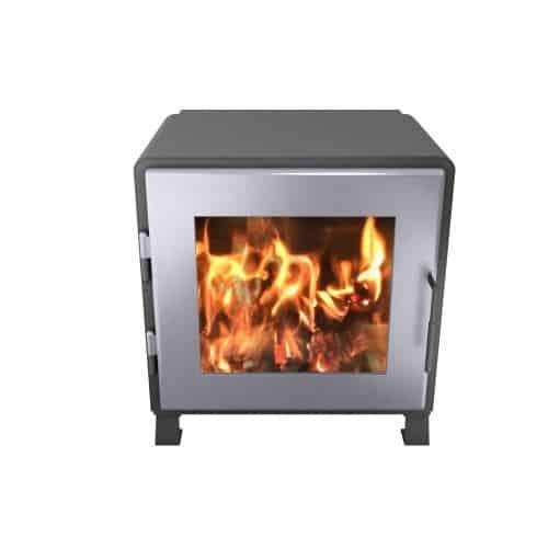 MF Fire MF-002-BP02-DP00 Charcoal Nova Wood Stove w/SS Door 1