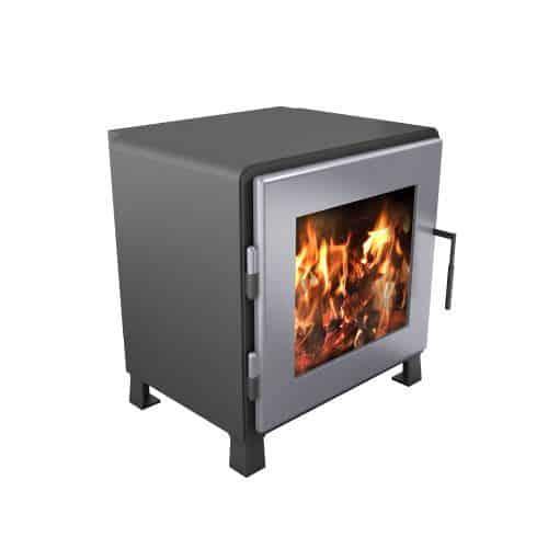 MF Fire MF-002-BP02-DP00 Charcoal Nova Wood Stove w/SS Door