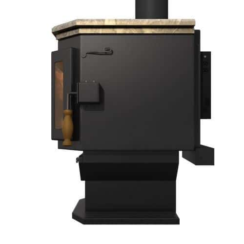 MF Fire Satin Black Catalyst Wood Stove with Soapstone Top 1