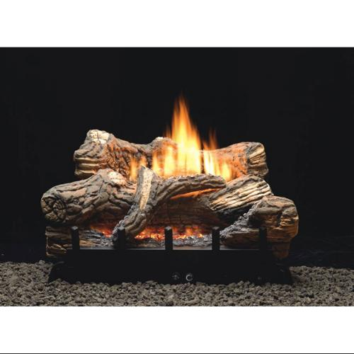 """MV 6-piece 24"""" 34000 BTU Ceramic Fiber Log Set - Liquid Propane"""