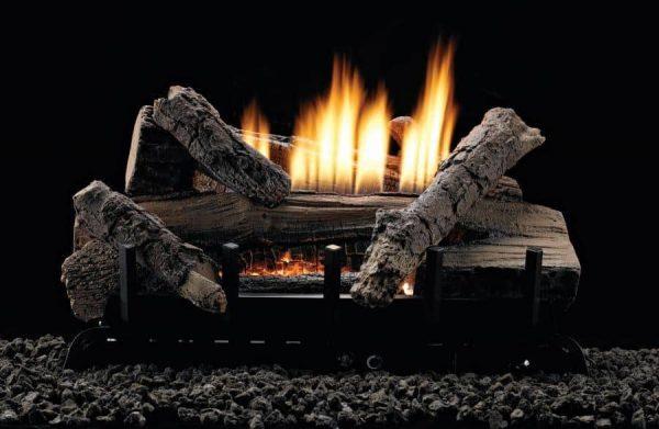 """MV 6-piece 24"""" 34000 BTU Refractory Log Set - Natural Gas"""