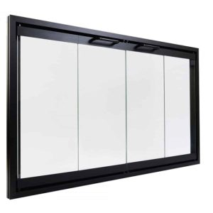 """Majestic Bi-Fold Glass Fireplace Door 42""""   Easy Install  Prevent Drafts   All Parts Included   See Models Below"""