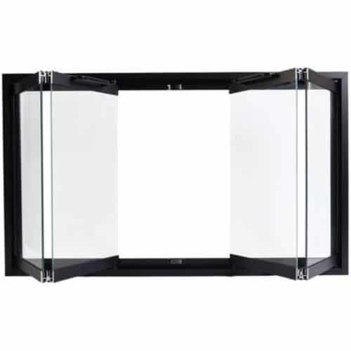 Majestic DM1736 Black Bi-Folding Glass Doors For The Majestic Sa36 Fireplace