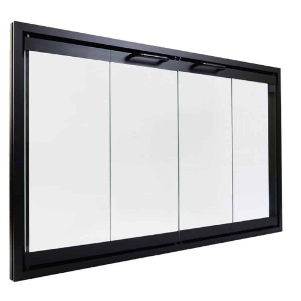 Majestic DM8042 Black Bi-Fold Glass Doors For Majestic Sb80 Fireplace