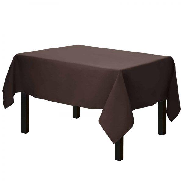 Mantel Cuadrado - 52 X 52 Pulgadas - Chocolate Mantel Cuadrado Para Manteles