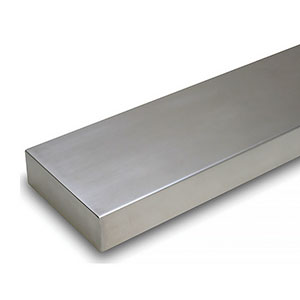 Mantels Direct 52 inch Titus Fireplace Mantel Brushed Stainless Steel Metal Shelf