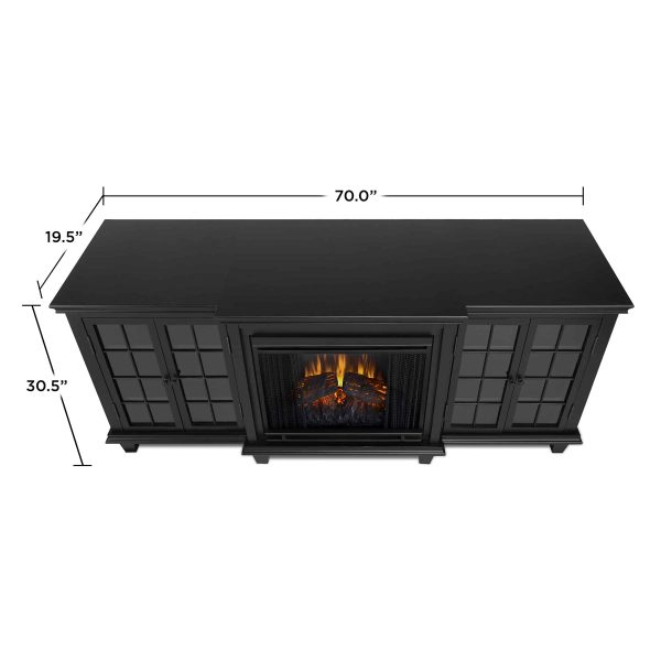Marlowe Electric Entertainment Fireplace in Black by Real Flame 3