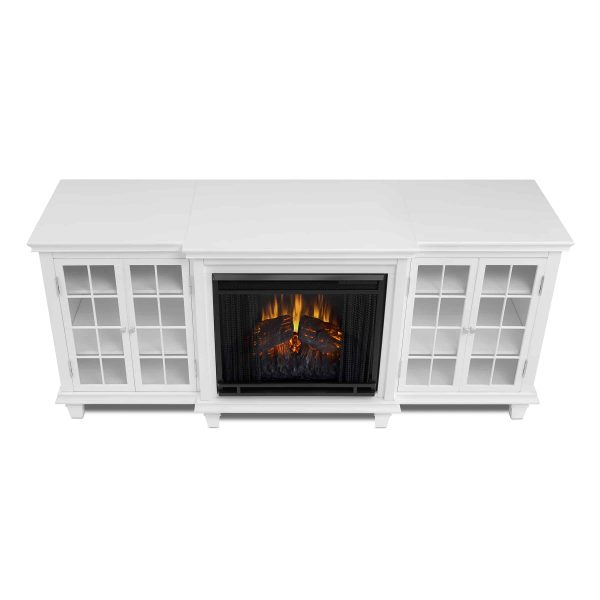 Marlowe Electric Entertainment Fireplace in White by Real Flame 3