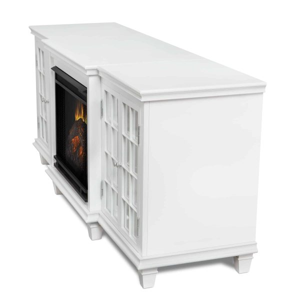 Marlowe Electric Entertainment Fireplace in White by Real Flame 4
