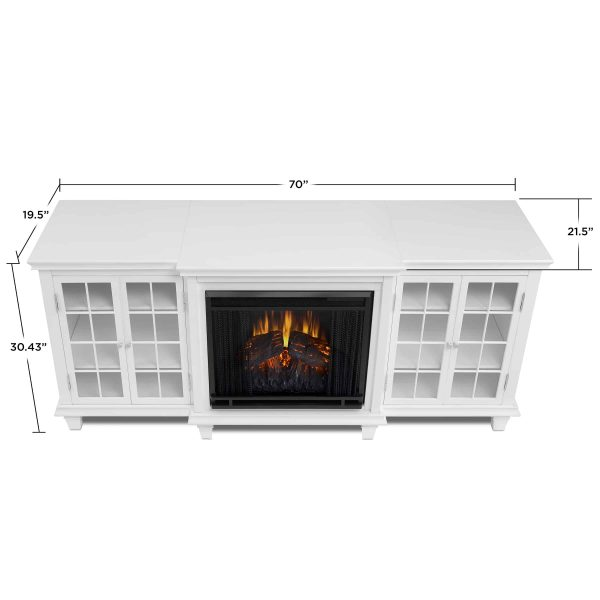 Marlowe Electric Entertainment Fireplace in White by Real Flame 5